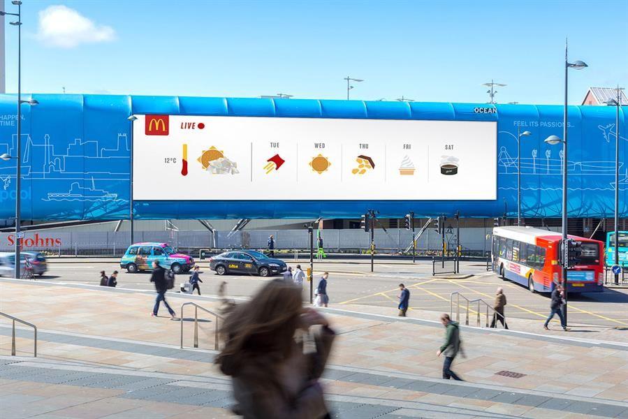 # 今天氣象預報是漢堡:英國麥當勞結合氣象帶出美味預報設計 4
