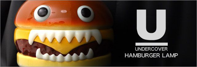 "4.UNDERCOVER × Medicom Toy ""Hamburger Lamp"""