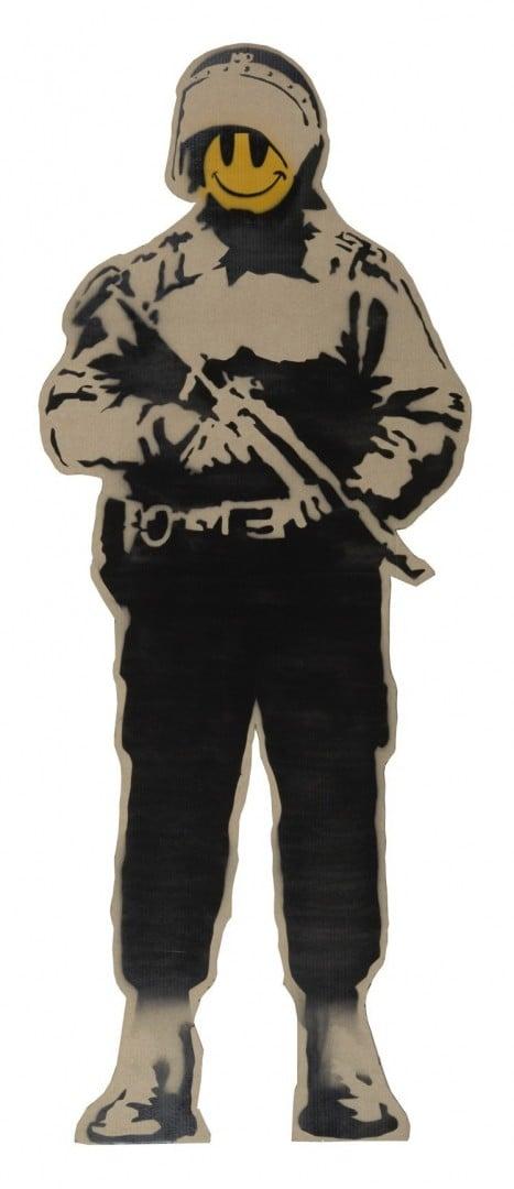 # 叛逆有理 :Banksy 多幅作品將於本月來台展出 6