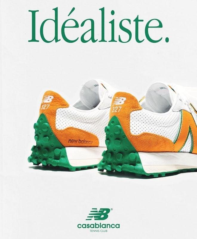 # 法式貴族運動風:CasablancaⒸ 聯名 New Balance 推出復古 327 球鞋 1