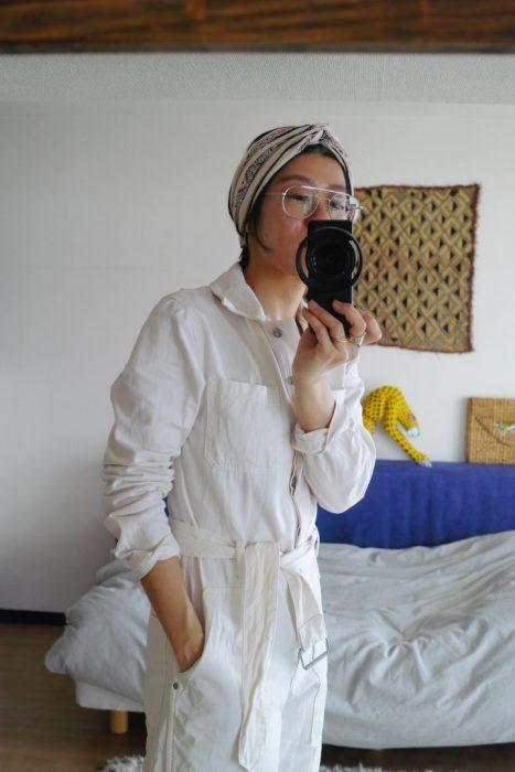 (Style-1)  今天外面飄著細雨,在下雨的日子我都會讓自己穿得白白的,希望在雨天也有個明亮的心情。
