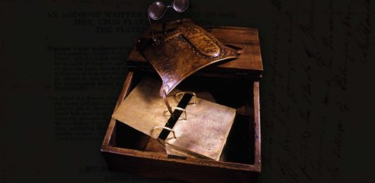 How did Joseph Smith translate the plates from which the Book of Mormon came forth?