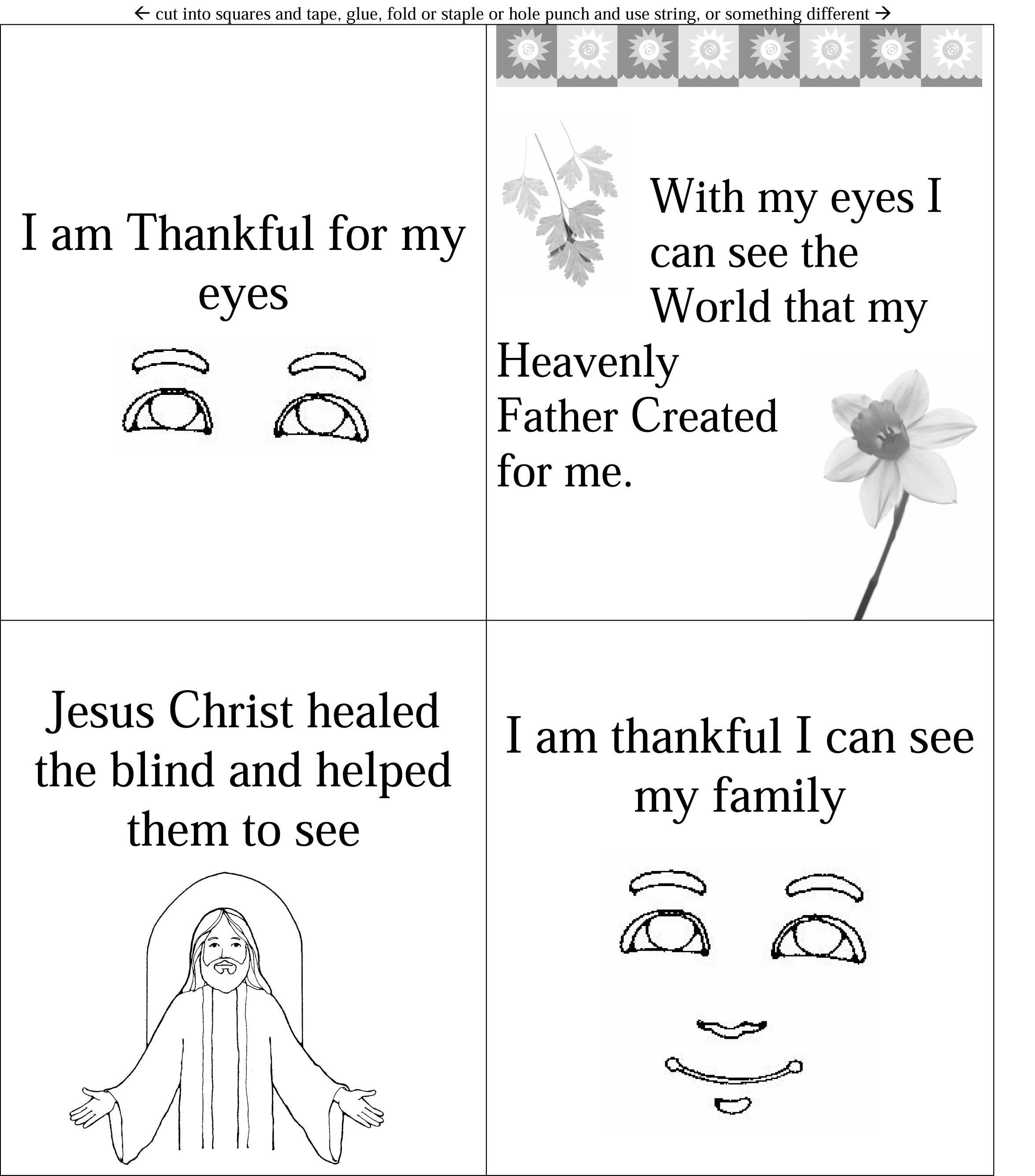 I Am Thankful For My Eyes