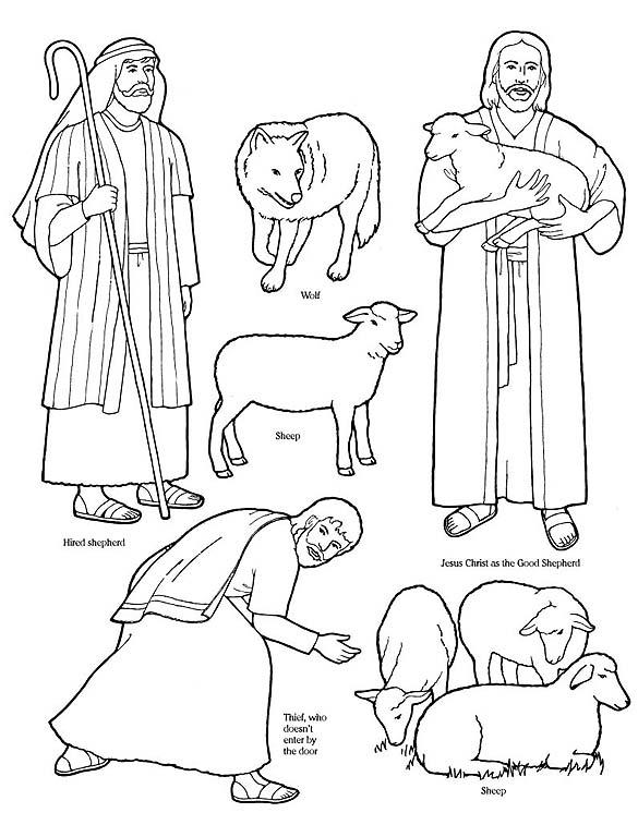 jesus the good shepherd coloring pages aaldtk