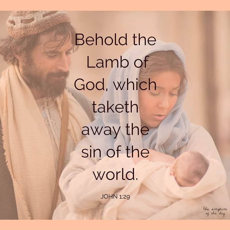 The next day John seeth Jesus coming unto him, and saith, Behold the Lamb of God, which taketh away the sin of the world. John 1:29
