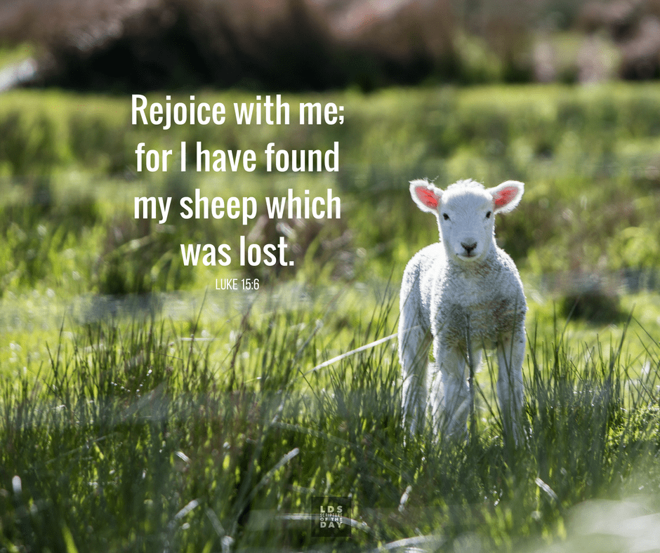 ...Rejoice with me; for I have found my sheep which was lost. Luke 15:6
