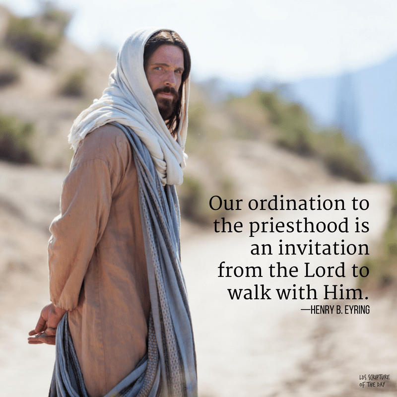 Our ordination to the priesthood is an invitation from the Lord to walk with Him—Henry B. Eyring