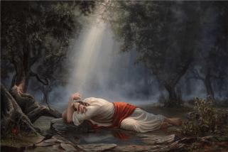 Jesus in Gethsemane