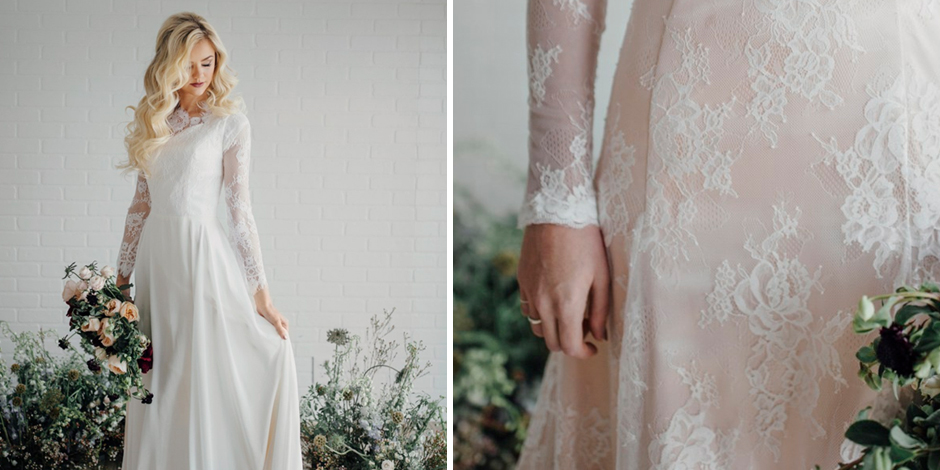 25 Modest Wedding Dresses with Long Sleeves