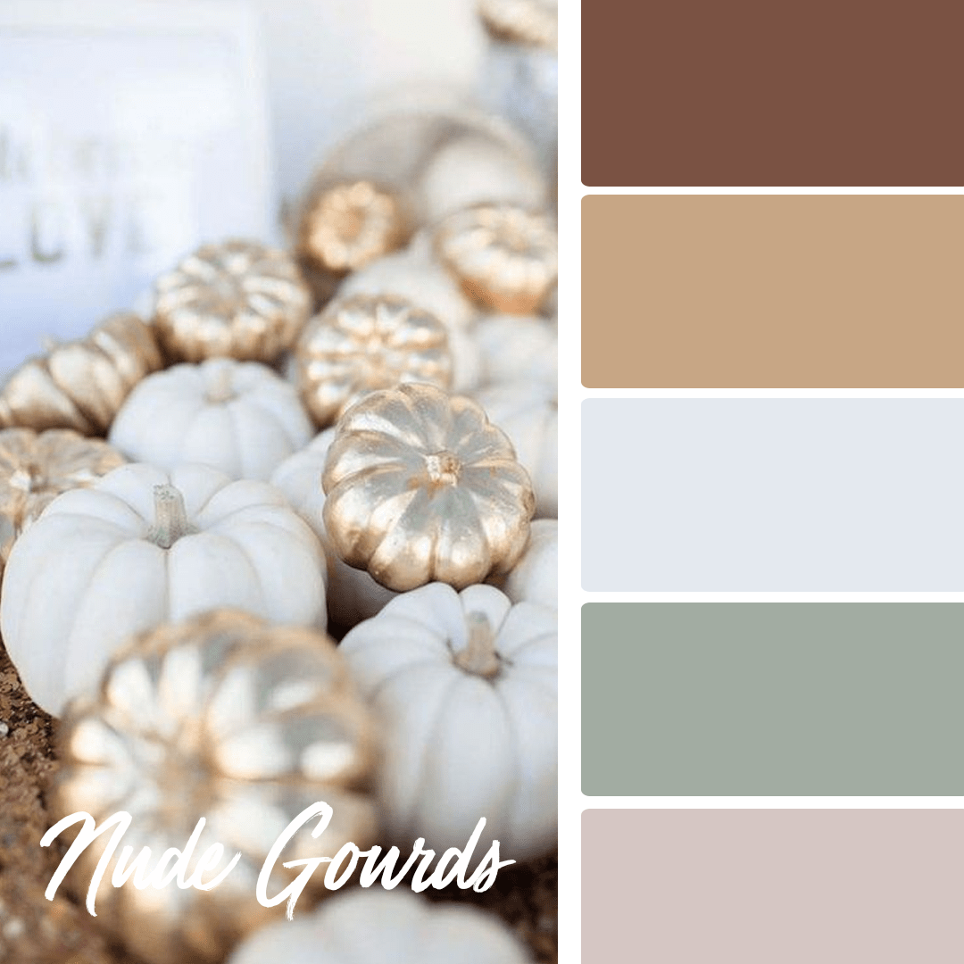 Nude Gourds - 25 Fall Wedding Colors Any Bride & Groom Will Love