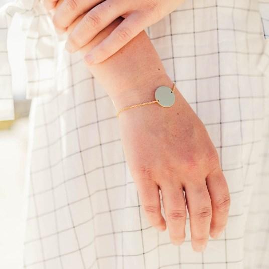 Custom Circle Pendant Bracelet - LDS Wedding Gifts