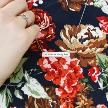 Handwriting Jewelry - LDS Wedding Gifts