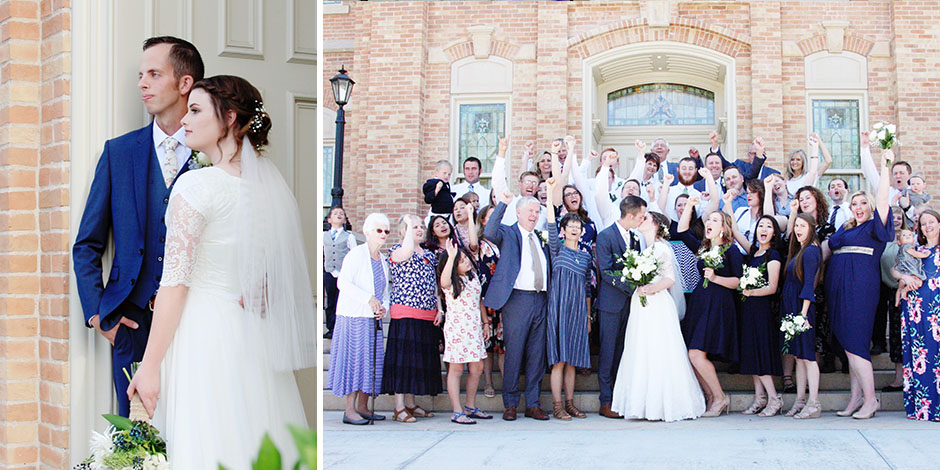 A Simple, Sophisticated Provo Wedding | Kelly + Micklane