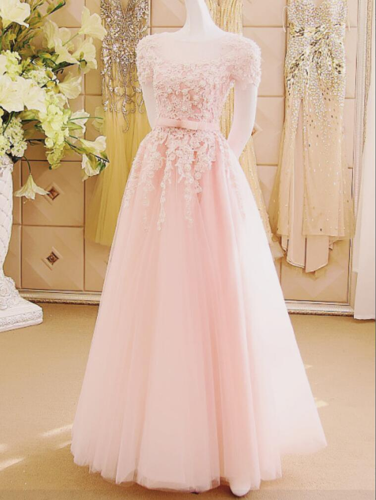 Pink Modest Wedding Dresses