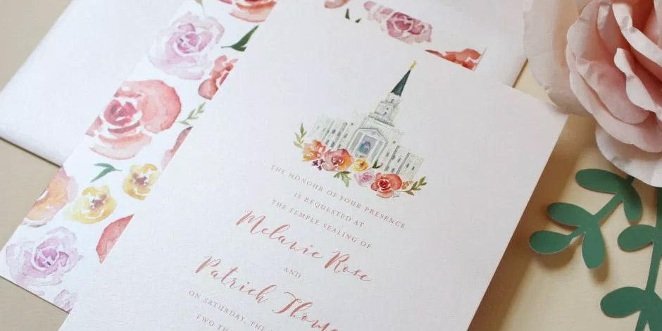 20 Great Examples of LDS Wedding Invitations