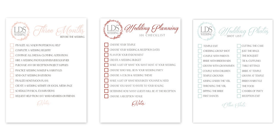 LDS Wedding Checklists   Free & Printable for All Your Planning Needs!