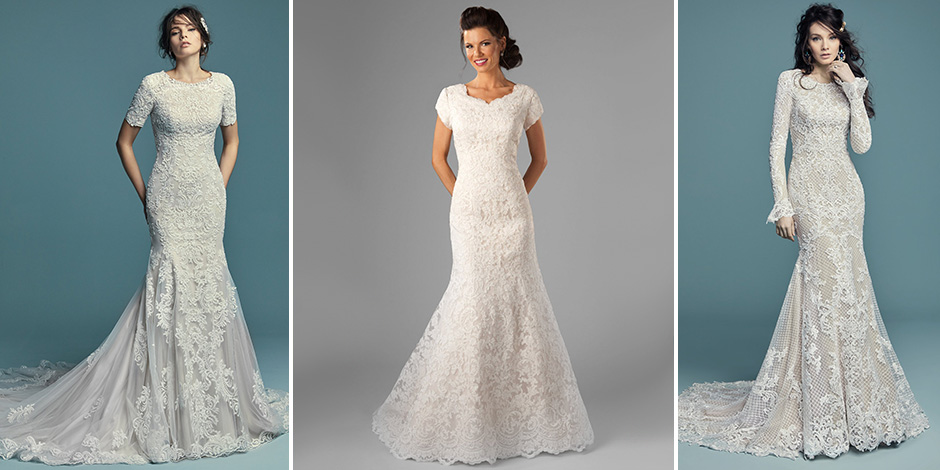 25 Modest Mermaid Wedding Dresses