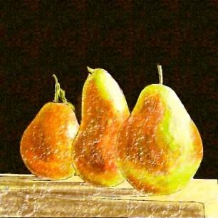 pears-paint on texture brush