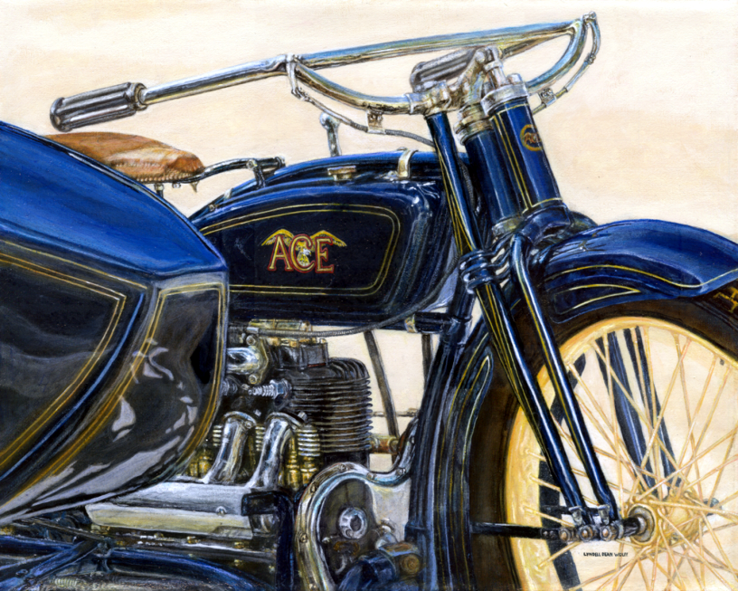 Acrylic on canvas original painting titled 1922 Ace 03 by Lyndell Dean Wolff