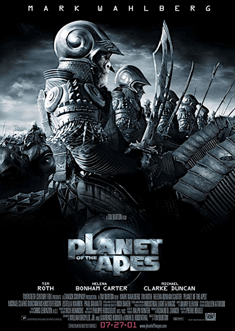 Movie poster for Planet of the Apes 2001 ldwolff