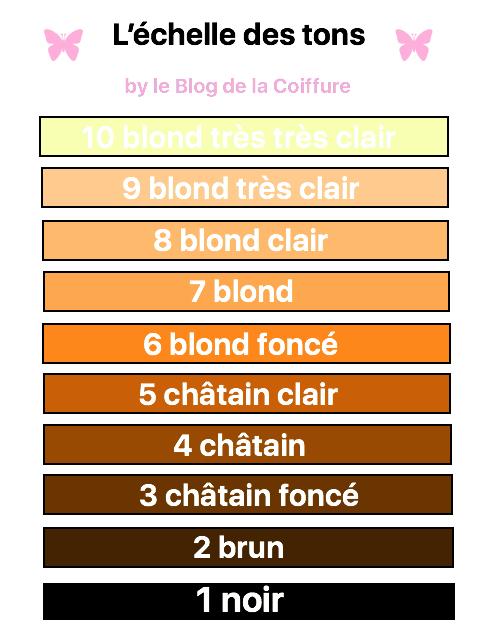 Couleur des cheveux dans les tons chГўtains