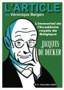 bergen jacques de de decker l immortel de l academie royale de belgique
