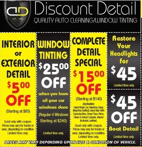 Discount Detail Auto Detailing Shop Plymouth Ma
