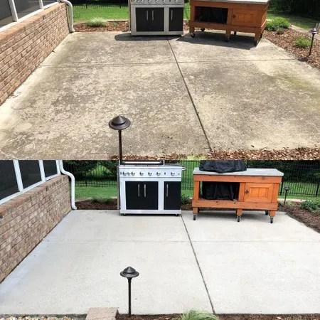 concrete cleaning sidewalk washing