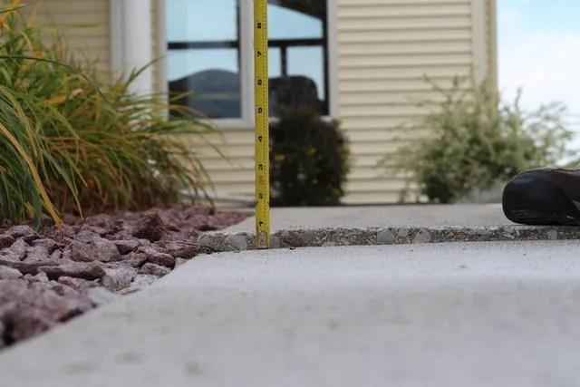 concrete patio leveling repair