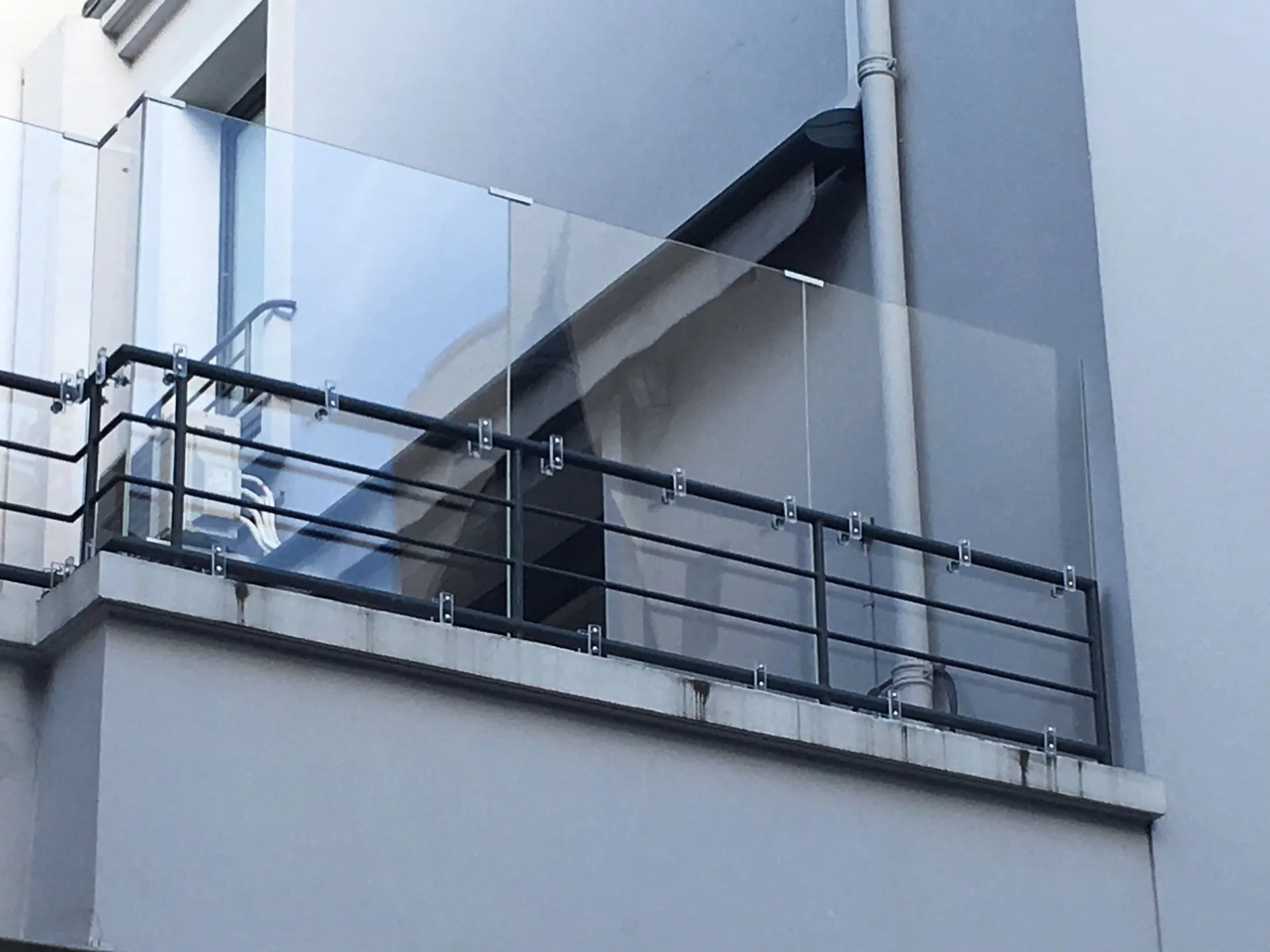 Securite Terrasse Panneau Plexiglas Barriere Contre Vent Brise Vue