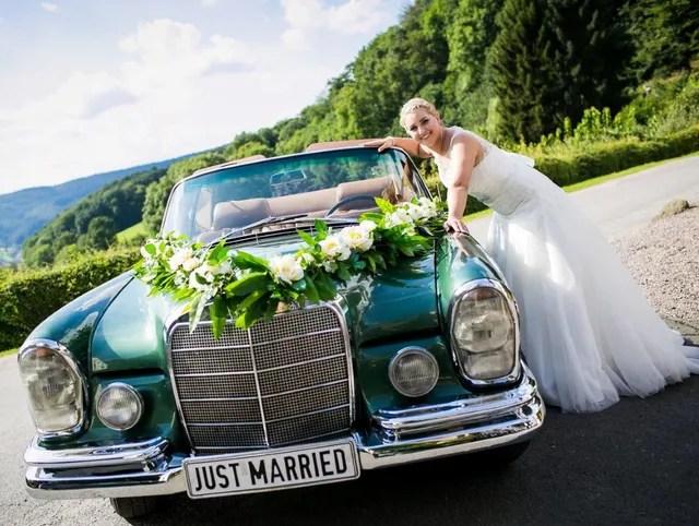 Servietten Hochzeit Auto Tischdeko Hochzeit