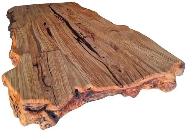Plateaux Table Bois Massif Brut Avec Ecorce Bords Naturels