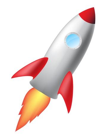 16905699 - cartoon rocket isolated on white background