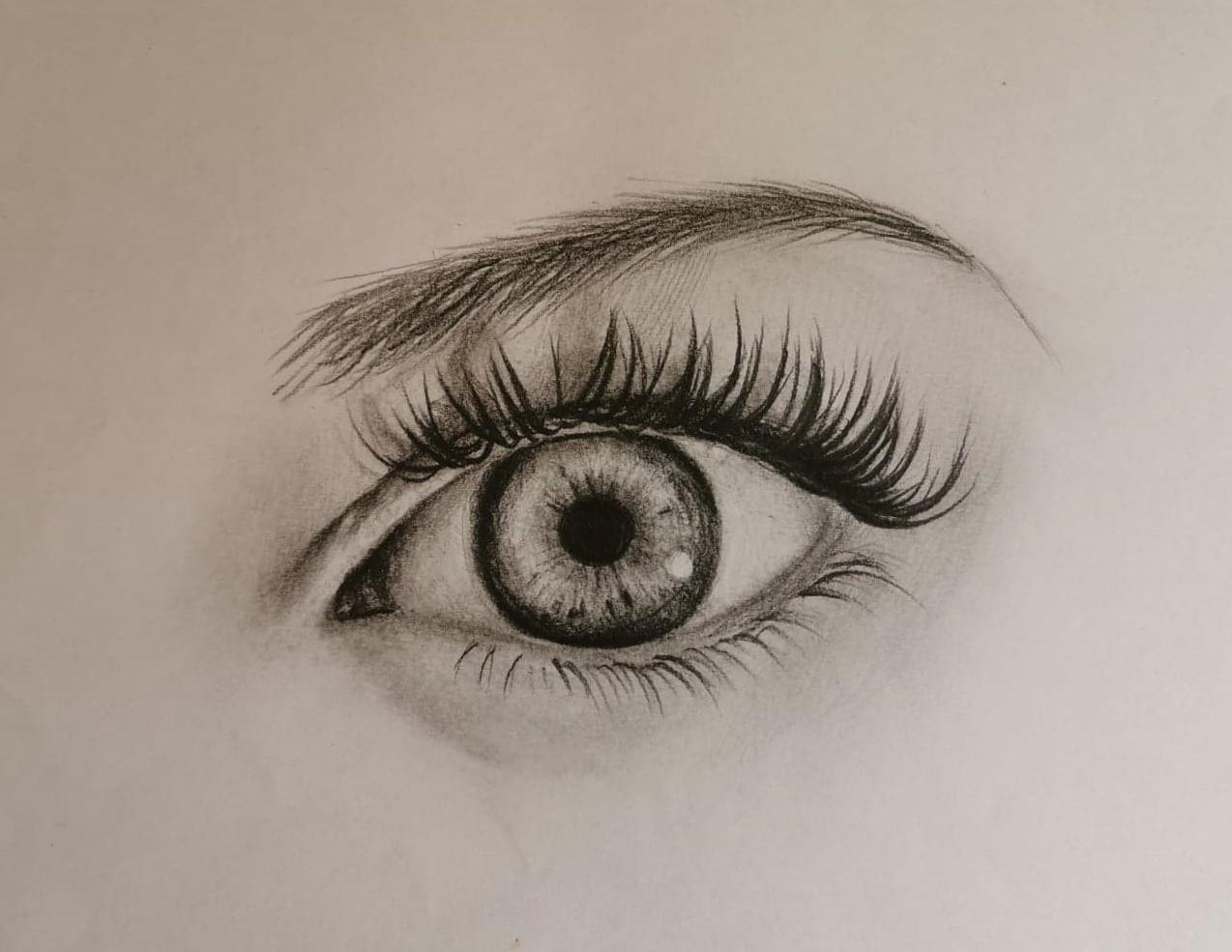Réussir un oeil au crayon graphite