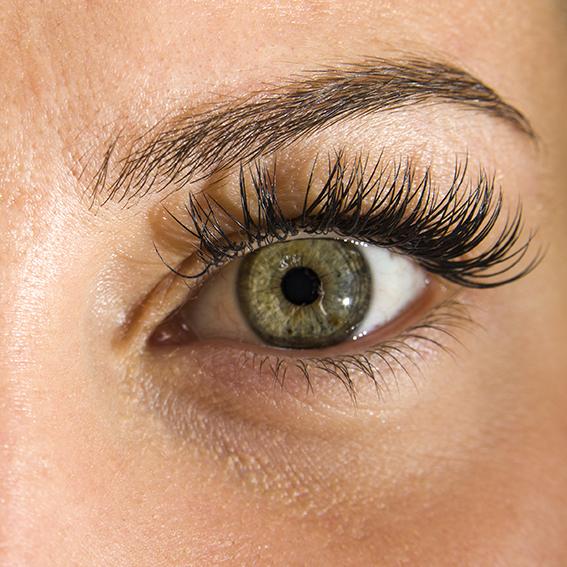 Oeil féminin en couleurs