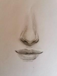 dessiner un nez réaliste
