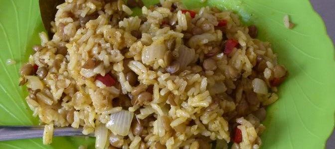 Mujaddara: Lentejas con arroz libanesas