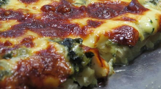 Pizza de Saag Paneer: fusión indoitaliana