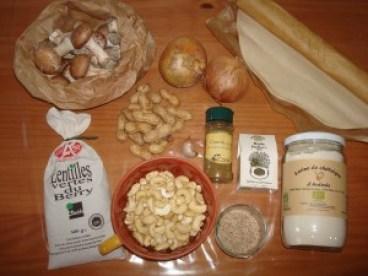 ingrédients pâté de pâques végétarien