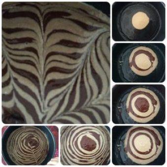 zebra cake montage