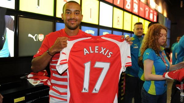 Theo buying my mother a football shirt... ?!
