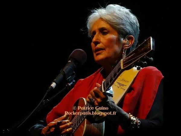 Joan Baez à l'Olympia, le 1er octobre 2014 - avec l'aimable autorisation de Patrice Guino