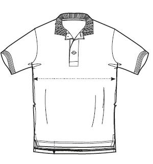 dessin modèle polo homme