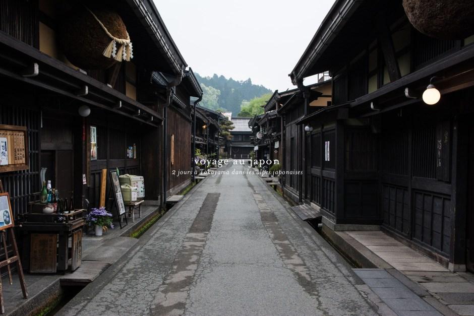 cityguide d'un voyage de deux jours à takayama au Japon