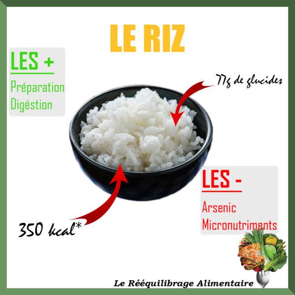 le riz est la meilleure source d'énergie