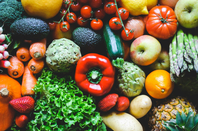 manger des légumes