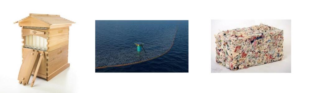 Problème = Opportunité 6 innovation environnement (Flow Hive, The Ocean Cleanup, ByFusion)