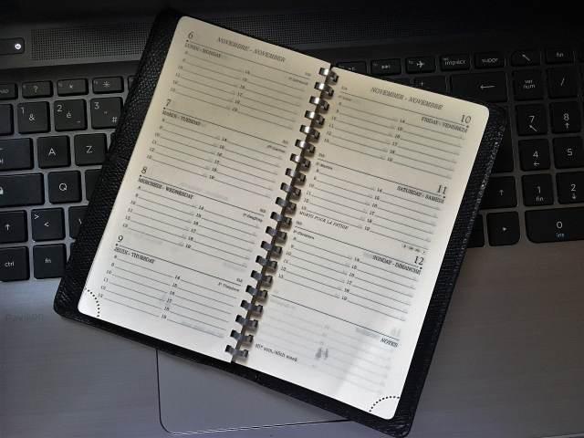 Regarder son agenda régulièrement