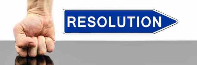 résolution, prendre une décision