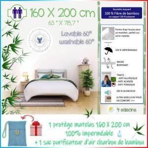 Meilleur Protege matelas bambou imperméable